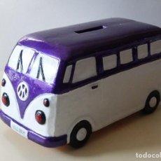 Vintage: HUCHA FURGONETA VOLKSWAGEN VW MATERIAL CERÁMICO. Lote 141640594