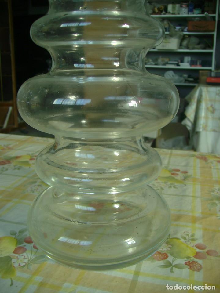 Vintage: CRISTAL JARRONES BUCAROS DE DISEÑO PAREJA - Foto 4 - 142417978
