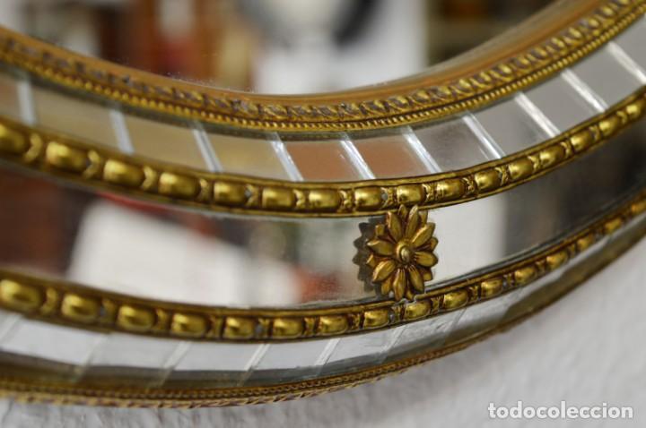 Vintage: Espejo ovalado estilo veneciano - Foto 2 - 142502734