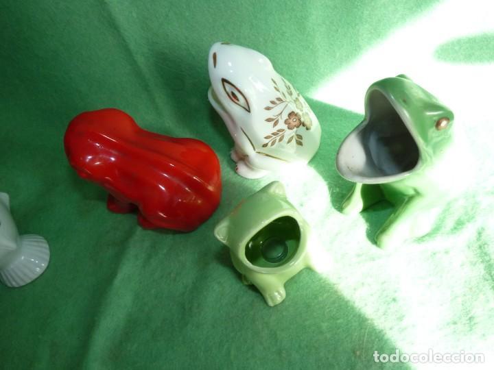 Vintage: Genial lote 5 huesera aceituna rana pez palillero porcelana pintada esmalte años 70 vintage - Foto 5 - 142775594