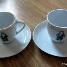 Vintage: TAZAS CAFE CON PLATO PORCELANA BOHEMIA PICASSO. Lote 142946602