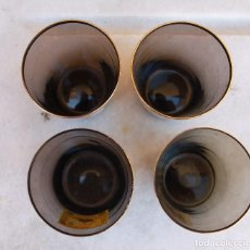 Vintage: 4 VASOS DE MARCAS DE COÑAC, AÑOS 60. Lote 143149506