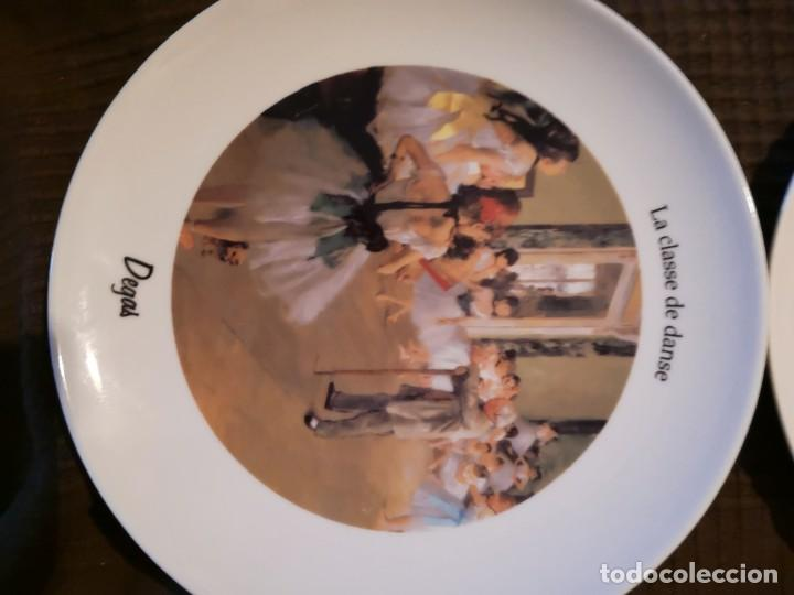 Vintage: 4 platos porcelana Tognana con dibujos reproducciones de pintores famosos - Foto 2 - 143412674