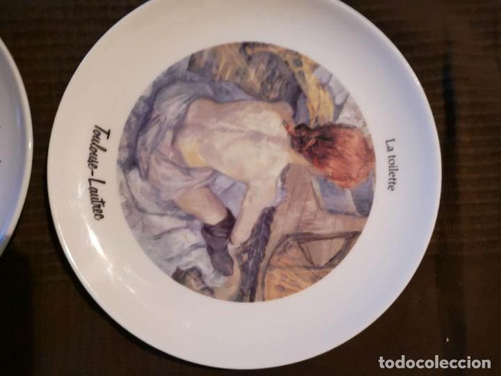 Vintage: 4 platos porcelana Tognana con dibujos reproducciones de pintores famosos - Foto 3 - 143412674