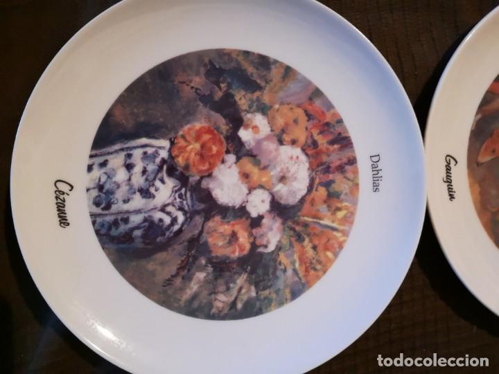 Vintage: 4 platos porcelana Tognana con dibujos reproducciones de pintores famosos - Foto 5 - 143412674