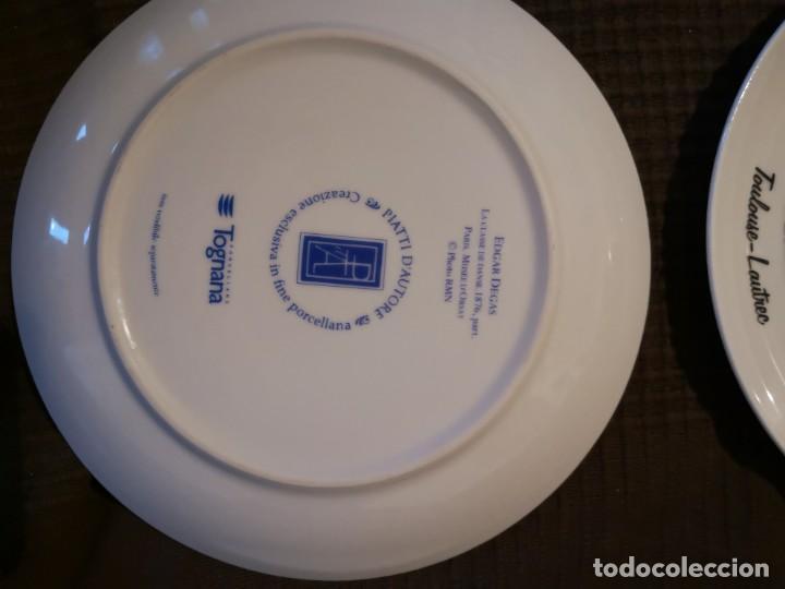 Vintage: 4 platos porcelana Tognana con dibujos reproducciones de pintores famosos - Foto 6 - 143412674