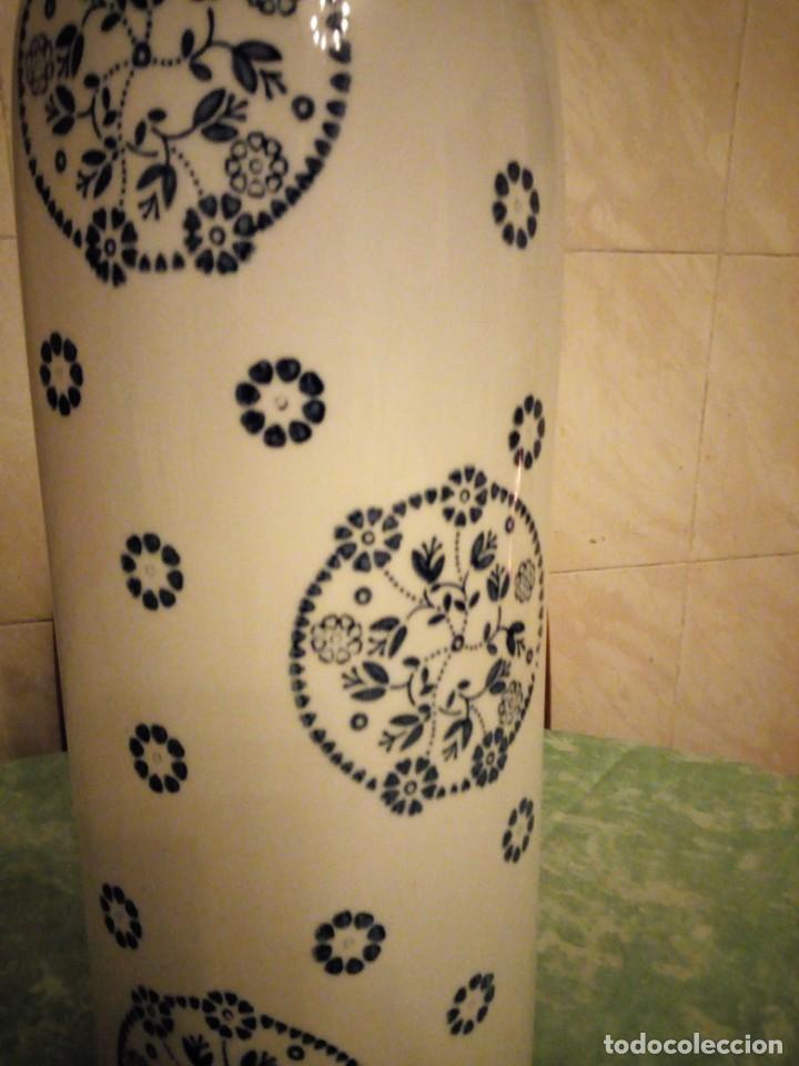 Vintage: jarron porcelana sia home fashion,blanco con flores azul cobalto. - Foto 4 - 143594950