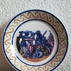 Vintage: PLATO PORCELANA SARGADELOS HOMENAXE AS PINTURAS MURAIS DE MONDOÑEDO - ED. LIMITADA Y NUMERADA - LUGO. Lote 144196560