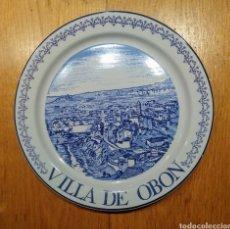 Vintage: PLATO VILLA DE OBON. PORCELANAS ISARD. Lote 144998806