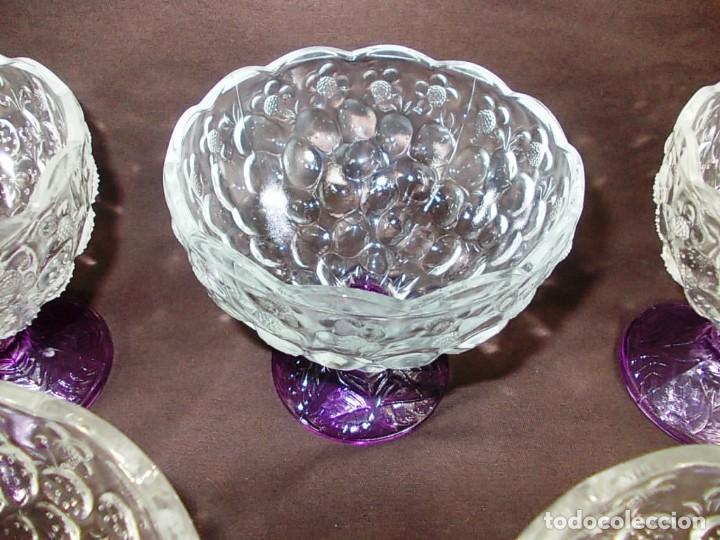 Vintage: Conjunto 5 cuencos para postre, macedonia o helado de cristal - Foto 5 - 145061202