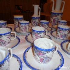 Vintage: JUEGO DE CAFE DE 12 DE SARGADELOS (EL CASTRO) CON MOTIVOSMITOLOGICOS. Lote 146258178