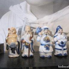 Vintage: LOTE DE FIGURAS ORIENTALES BUDAS..REYES..ORIGINALES DE LOS AÑOS 70. Lote 146529198