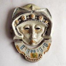 Vintage: MÁSCARA AZTECA EN CARÁMICA, AÑOS 60, DIMENSIONES 25 X 18 CM.. Lote 146557694