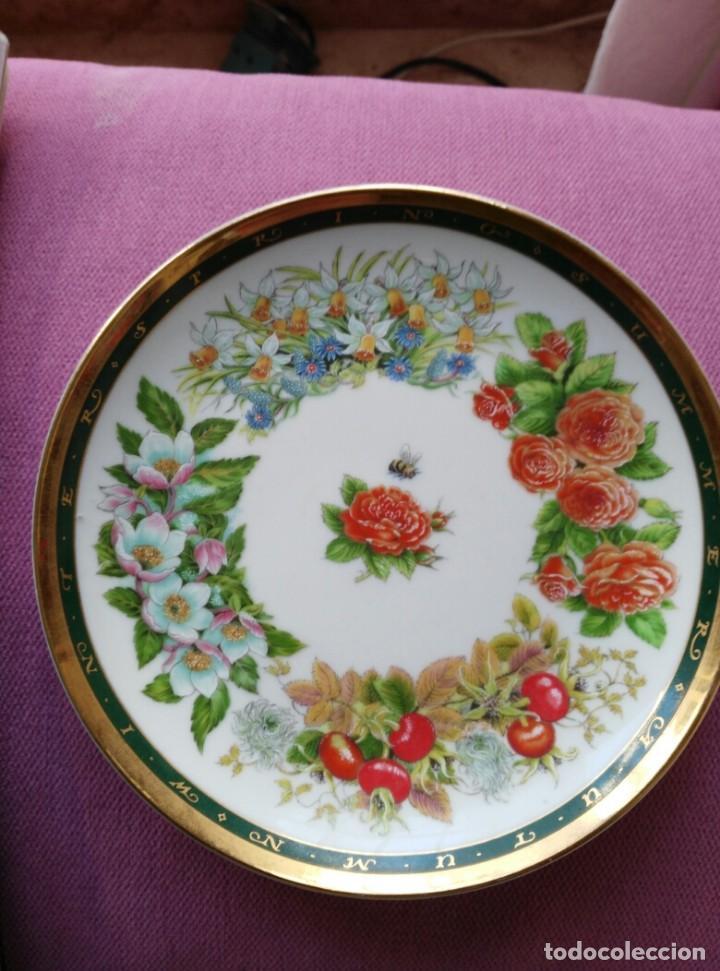 PLATO INGLÉS 4 ESTACIONES DE GILL TOMBLIN (Vintage - Decoración - Porcelanas y Cerámicas)