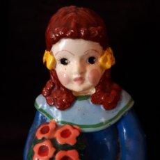 Vintage: FIGURA MUÑECA YESO. Lote 146750182