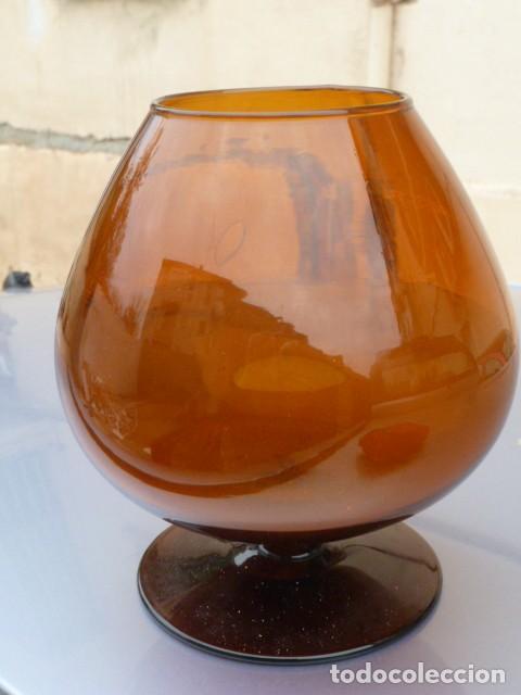Gran Copa Gigante Coñac Brandy De Cristal Soplado Con Acabado Liso