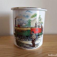Vintage: GALLETERO O BOTE PORCELANA SAN CLAUDIO. TREN. Lote 147539490