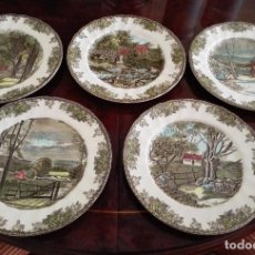 Vintage: 12 PLATOS DE PORCELANA INGLESA DE JHONSON BROTHERS. Lote 147584870