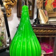 Vintage: PRECIOSO JARRON DE CRISTAL OPALINA - MEDIDA 34 CM - VINTAGE. Lote 147878906