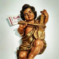 Vintage: ANGEL CON VIOLÍN CASA PUJOL CASTILLÓN. MEDIDA 190MM DE LARGO. IMPECABLE.. Lote 148153942