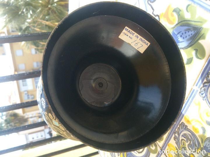Vintage: Jarrón India de zinc con inserciones de plata. - Foto 5 - 148187446