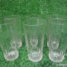 Vintage: VINTAGE LOTE 6 VASOS LARGOS DURALEX MADE IN FRANCE. Lote 148785122