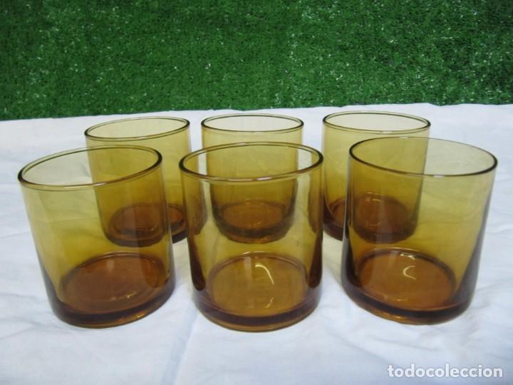 Vintage: VINTAGE LOTE 6 VASOS CRISTAL COLOR AMBAR - Foto 4 - 149124710