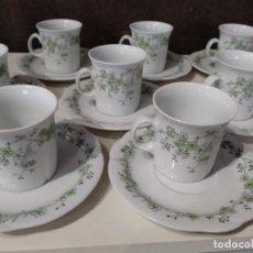 Vintage: JUEGO CAFÉ ARZBERG BAVARIA 12 SERVICIOS PORCELANA ALEMANA. Lote 149738546