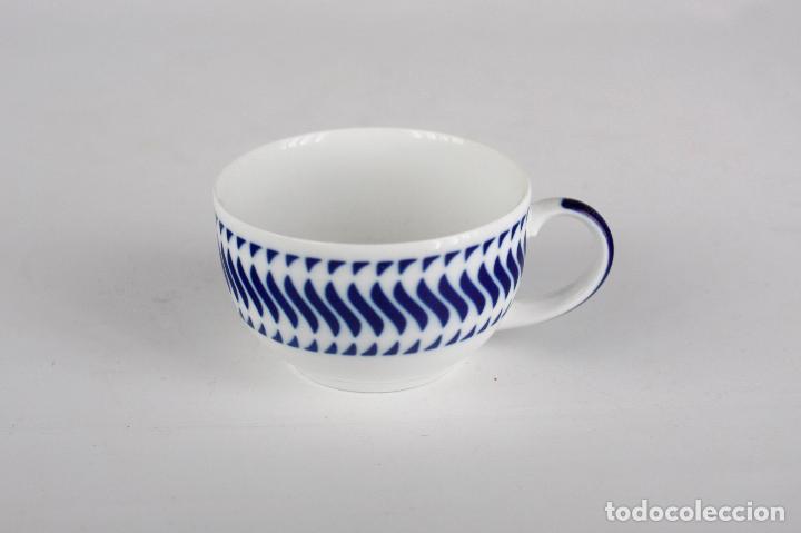 TAZA C-7 SARGADELOS PORCELANA GALICIA (Vintage - Decoración - Porcelanas y Cerámicas)