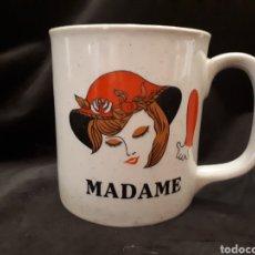 Vintage: TAZA VINTAGE MADAME COLECCIÓN AÑOS 80 GRÉS KOREA. Lote 150637462
