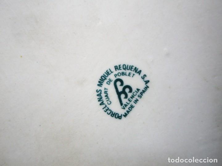 Vintage: JARRON DE PORCELANA MIQUEL REQUENA CON CISNES - Foto 8 - 151136682
