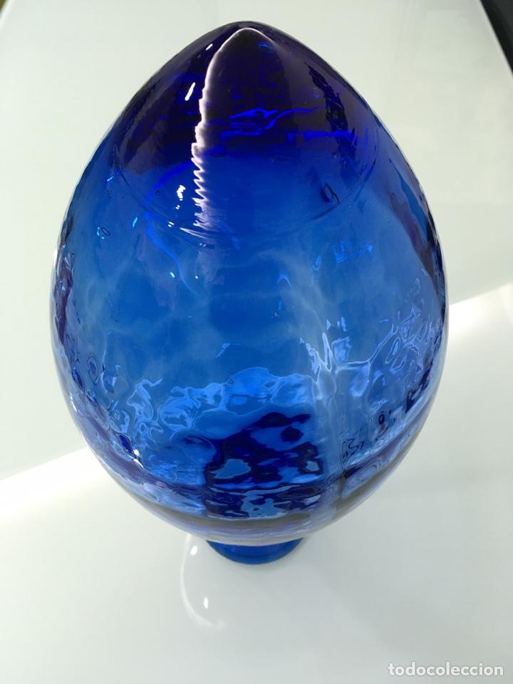 Vintage: Jarrón-florero de vidrio azul - Foto 3 - 151339538