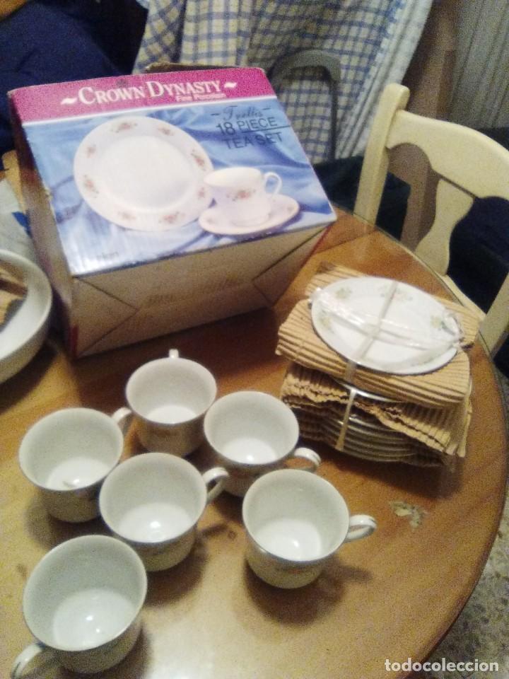 JUEGO TE 18 PIEZAS PORCELANA FINA (Vintage - Decoración - Porcelanas y Cerámicas)