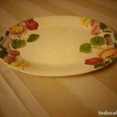 Vintage: PRECIOSA FUENTE DE CERAMICA CON FLORES EN RELIEVE,CASUAL DINING.GRAN TAMAÑO.. Lote 151624134