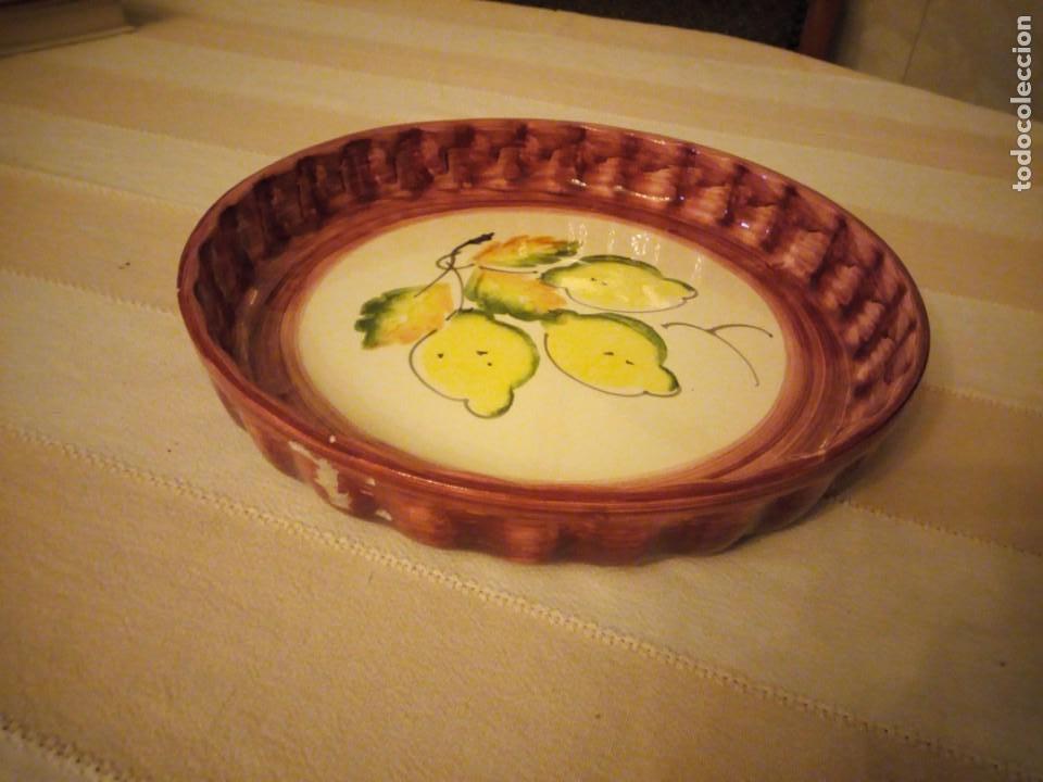 Vintage: Preciosa bandeja de cerámica para tartas. - Foto 2 - 151640702