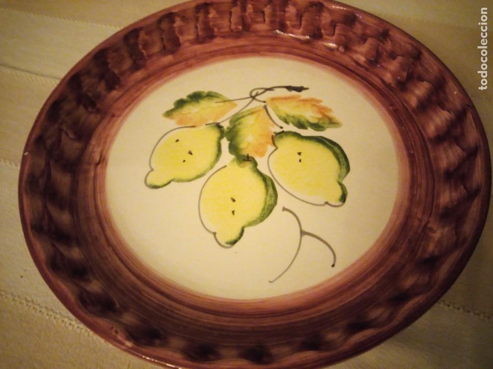 Vintage: Preciosa bandeja de cerámica para tartas. - Foto 3 - 151640702