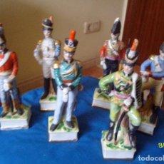 Vintage: ANTIGUAS 6 FIGURAS DE SOLDADOS TIPO PORCELANA 21CM DESCONOZCO MARCA. Lote 151704290