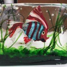 Vintage: CRISTAL MURANO ESCULTURA DE CENEDESE , PEZ - CENEDESE MURANO GLASS SCULPTURE FISH. Lote 151964042