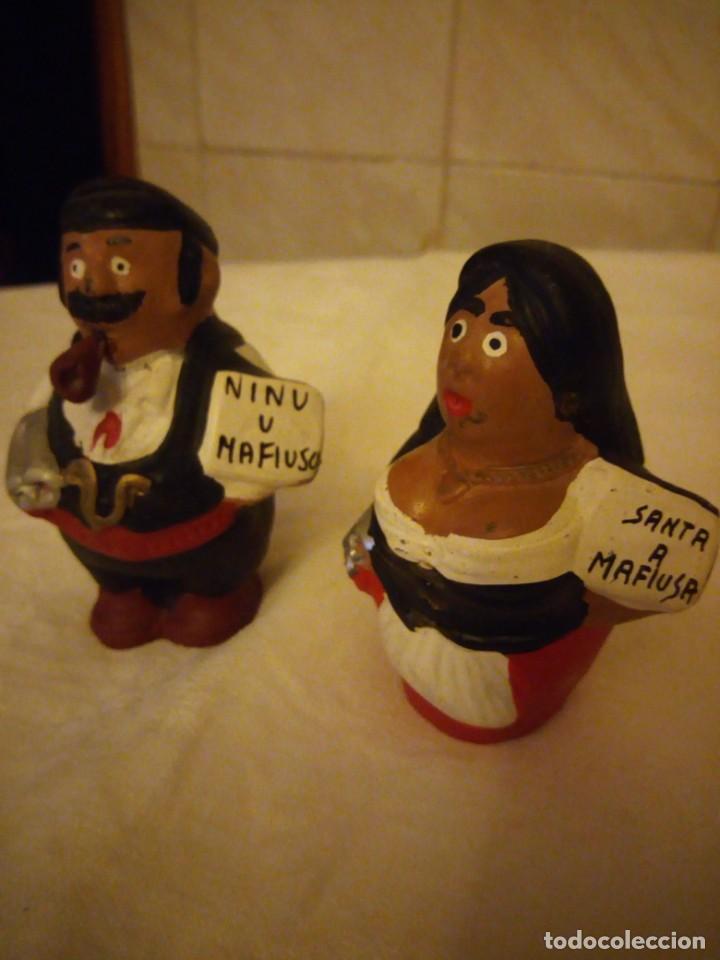 Vintage: Lote de 2 figuras de terracota santa a mafiusa y ninu u mafiuso. - Foto 2 - 152219966