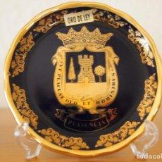 Vintage: PLATITO EN PORCELANA Y ORO DE LEY DE PLASENCIA.. Lote 152369166