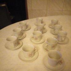 Vintage: BONITO JUEGO DE 12 SERVICIOS DE CAFÉ DE PORCELANA TRIPTIS PORZEILAN MADE IN GERMANY. Lote 152370686