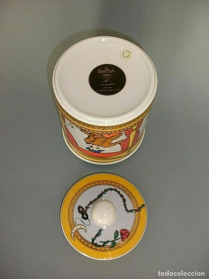 Vintage: PIERO FORNASETTI MILANO ROSENTHAL JARRON BOMBONERA PORCELANA LA COMEDIA DEL ARTE - Foto 3 - 152437930