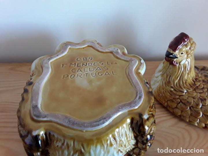Vintage: Gallina cerámica esmaltada, huevera - Foto 15 - 153111654