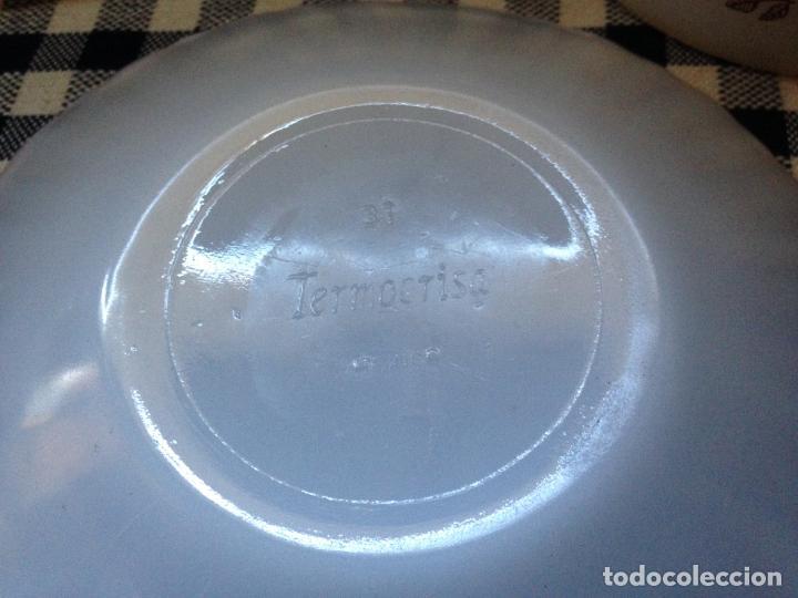Vintage: 2 PLATOS DEPOSTRE EN OPALINA BLANCA AÑOS 60 TERMOCRISA- MEXICO- - Foto 3 - 153142498
