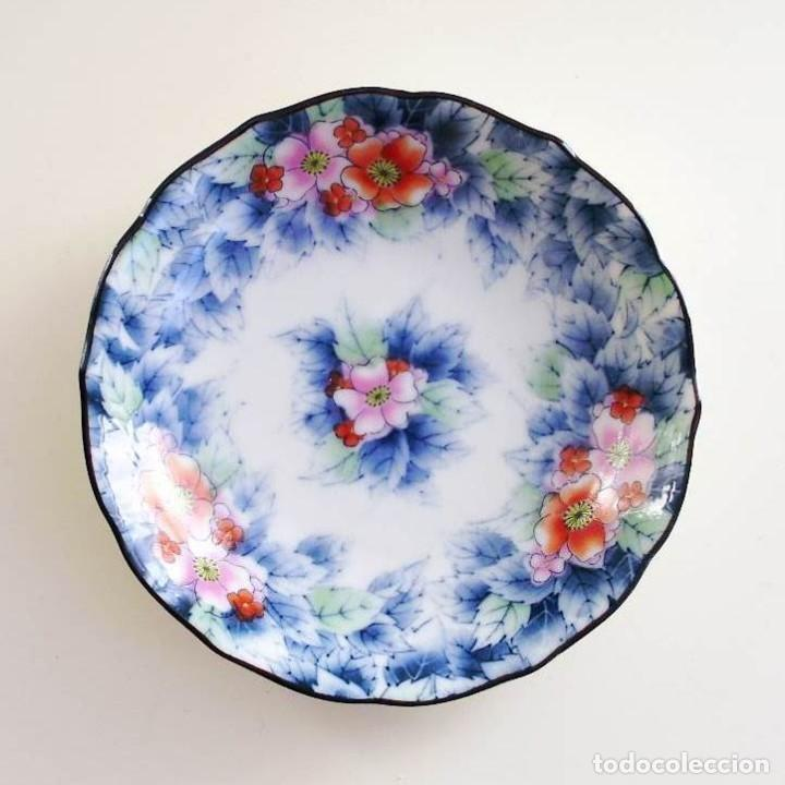 PLATO POCELANA JAPONÉS - FIRMADO (Vintage - Decoración - Porcelanas y Cerámicas)