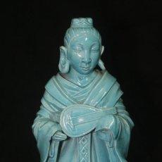 Vintage: FIGURA CHINA ORIENTAL PORCELANA AZUL VINTAGE CON FALTAS . Lote 153523334