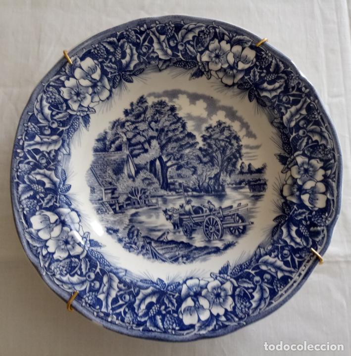 PLATO CERAMICA DECORACION - PAISAJE - QUADRIFOGLIO ITALIA - 22 CMS (Vintage - Decoración - Porcelanas y Cerámicas)