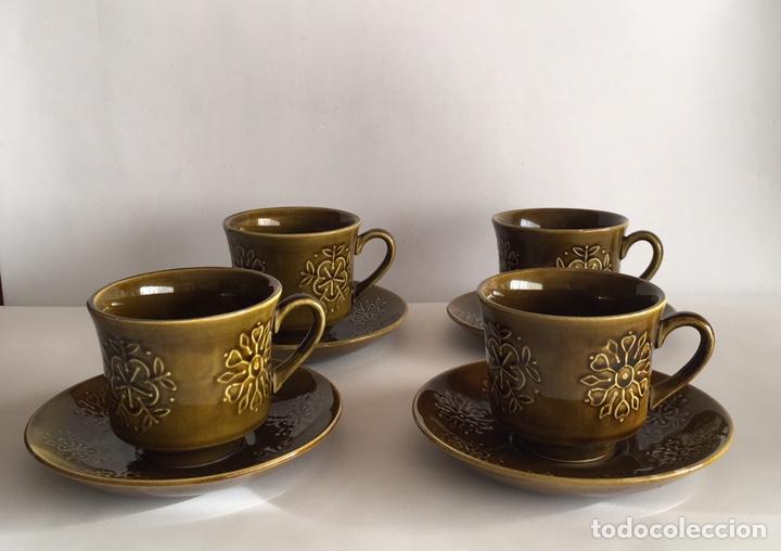 JUEGO CAFÉ PONTESA MODELO ESCOCIA. AÑOS 60/70 (Vintage - Decoración - Porcelanas y Cerámicas)