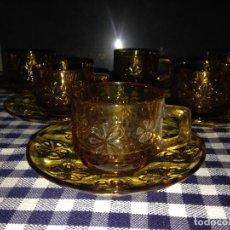 Vintage: 6 JUEGOS DE CAFÉ DURALEX MARGARITAS AÑOS 60 . Lote 153874666
