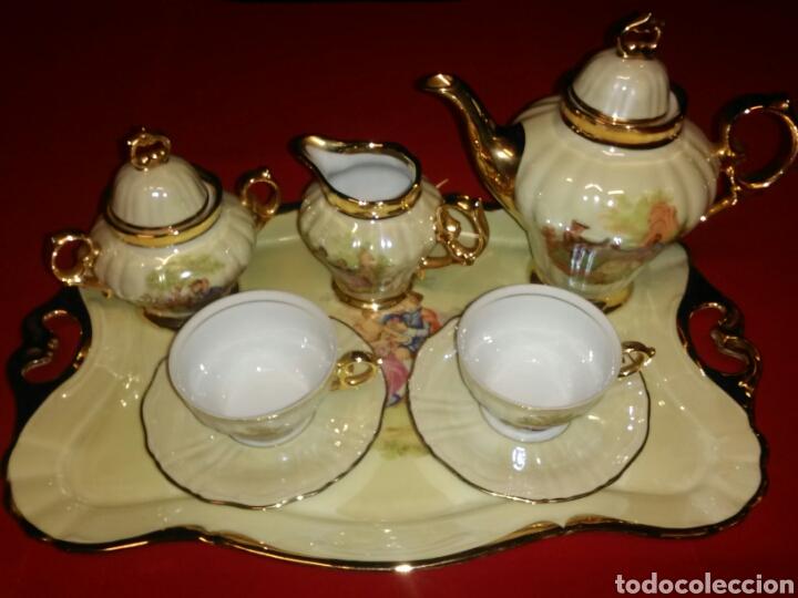 JUEGO DE TÉ/CAFÉ (Vintage - Decoración - Porcelanas y Cerámicas)